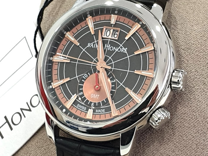 """Saint Honorè - """" NO RESERVE PRICE """" ORSAY GMT - Date - Genuine Leather - 8670401MIR - Swiss Made  - Heren - New"""