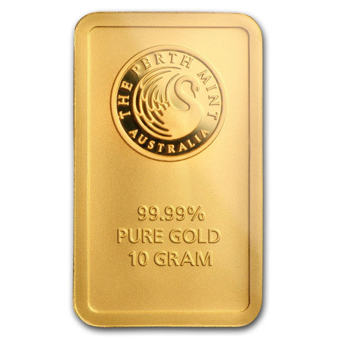 10 gramos - Oro .999 - Perth Mint - Sello + certificado