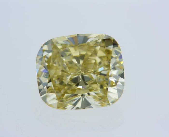 1 pcs Diamante - 2.07 ct - Cojín - fancy intens brownish yellow - VVS2