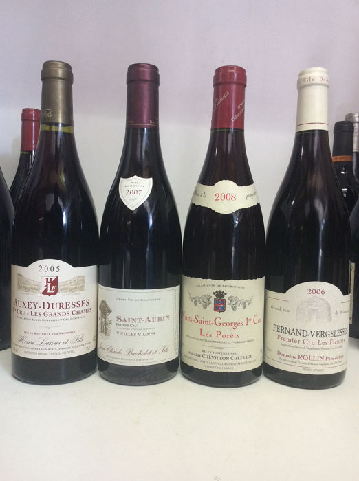 Mixed lot - 2005 Nuits St Georges 1° Cru - Pernand Vergelesses 1° Cru - Auxey Duresses for sale