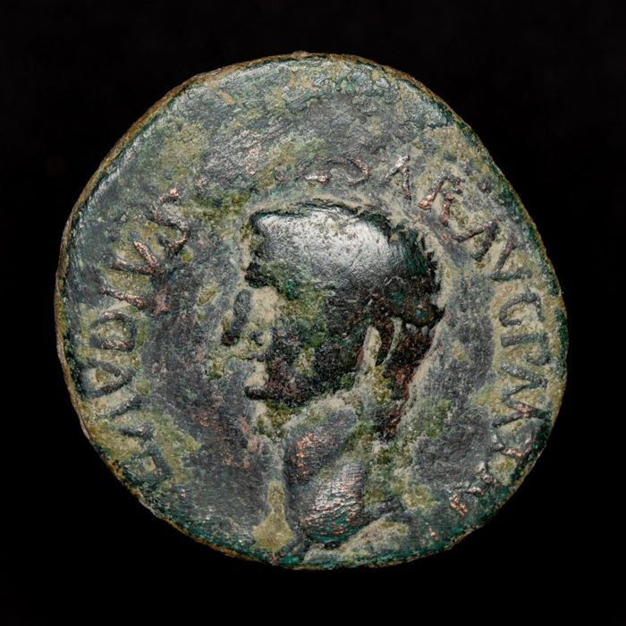 Roman Empire - As - Claudius I (41 - 54 A.D.) Rome mint, AD 41-42. S - C. Minerva brandishing javelin. - bronze