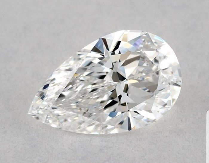 1 pcs Diamond - 0.45 ct - Pear - D (colourless) - VVS1