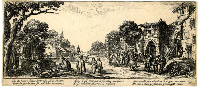 after Jacques Callot - Les  mendiants et les mourants (The beggars and the dying)