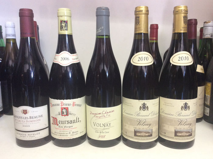 Mixed lot of Burgudy wines on different vintages - Burgundy - 5 Bottles (0.75L)