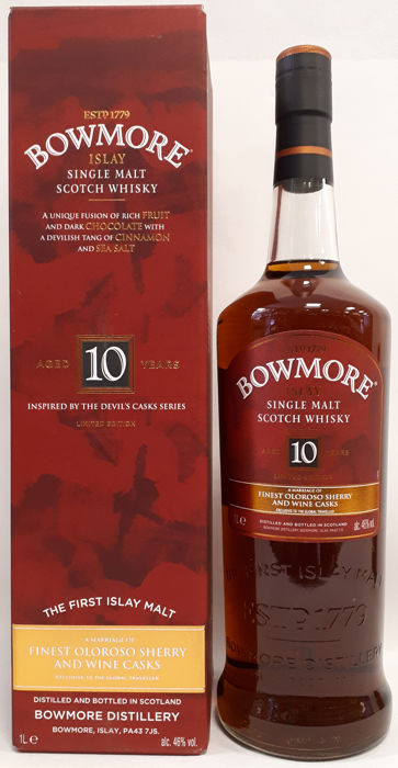 "Bowmore 10 years old ""Inspired by the Devil's Casks Series"" - Limited Edition  - 1,0 Liter"
