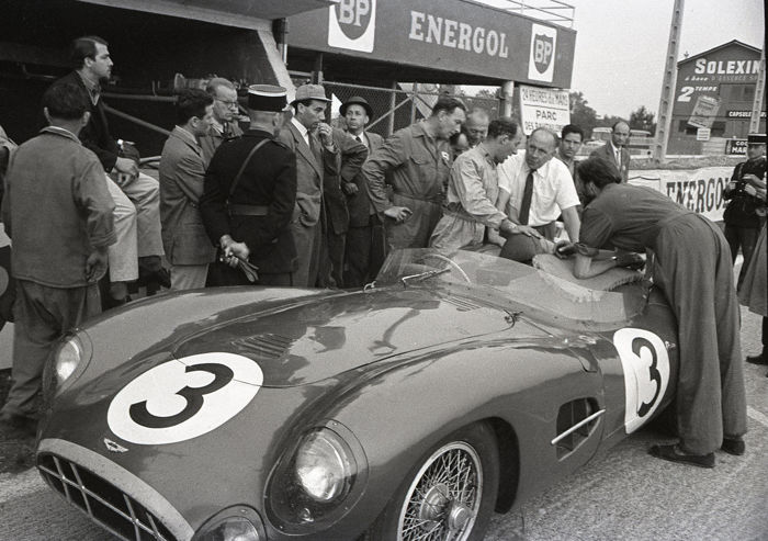photograph - Le mans Aston Martin Stirling Moss Jo Bonnier  in the Pits.   - 2016-2016