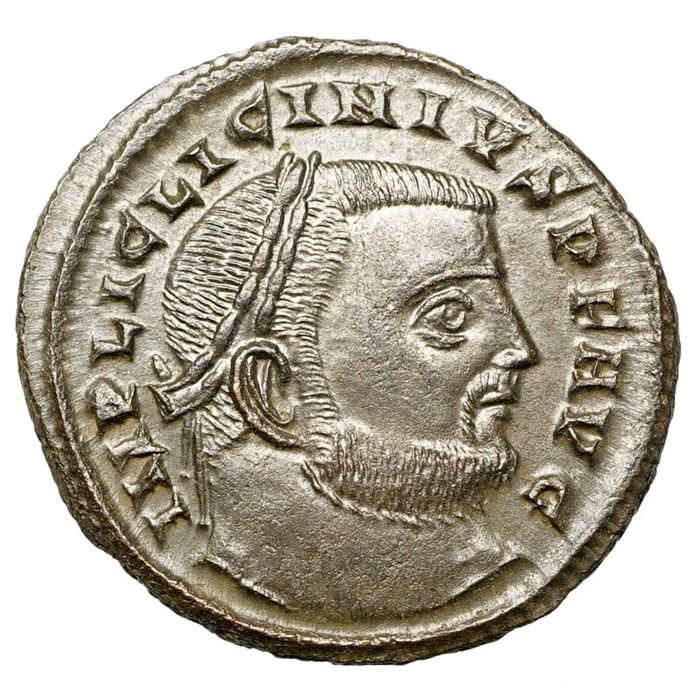 Empire romain - AE Follis, Licinius I. (308-324) Siscia, Jupiter
