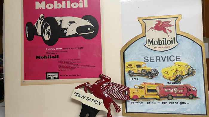 Decoratief object - Mobil oil - 60-70