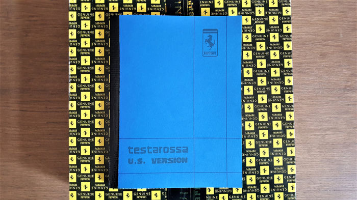 Broschüren/ Kataloge - Ferrari Testarossa US Version Owner's manual - 1987