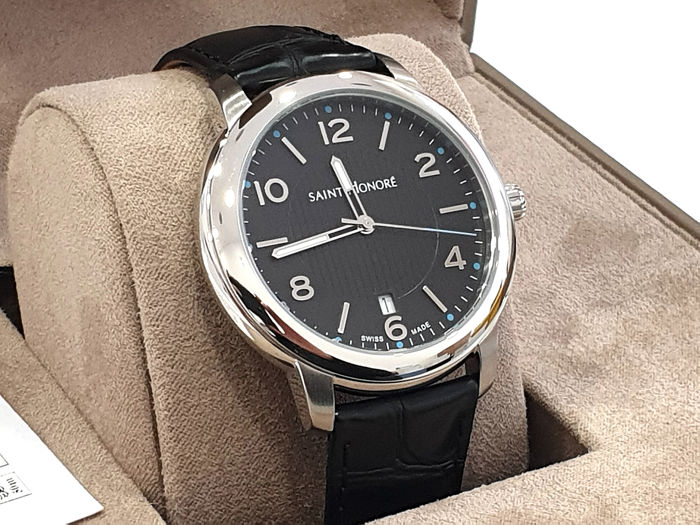 Saint Honorè - ORSAY - Black Dial - Dater - Genuine Leather - 8610401NBFD - Swiss Made - Heren - 2011-heden