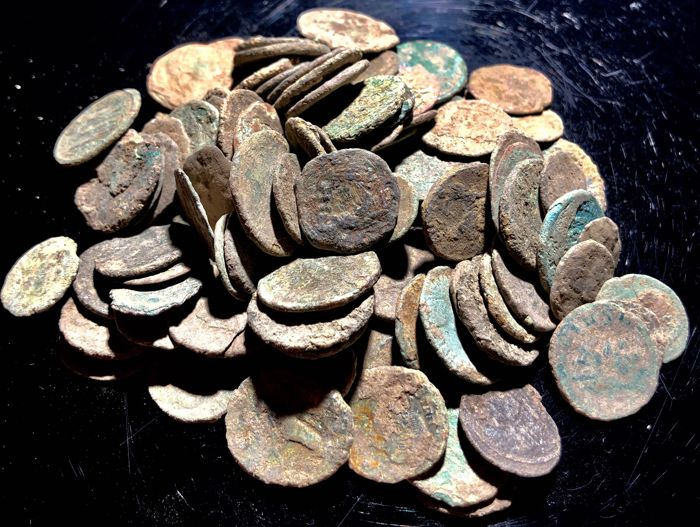 Romeinse Rijk - Large collection of 100 bronze coins, 1st - 4th. Century A.D. (100)