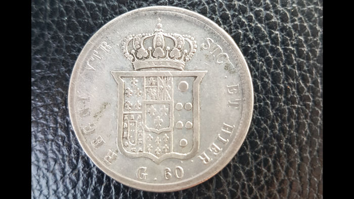 Italy - Kingdom of Two Sicilies - 60 grana  1855 - Silver