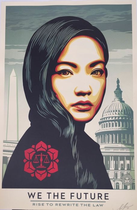 Shepard Fairey (OBEY) - We the Future Rewrite the Law