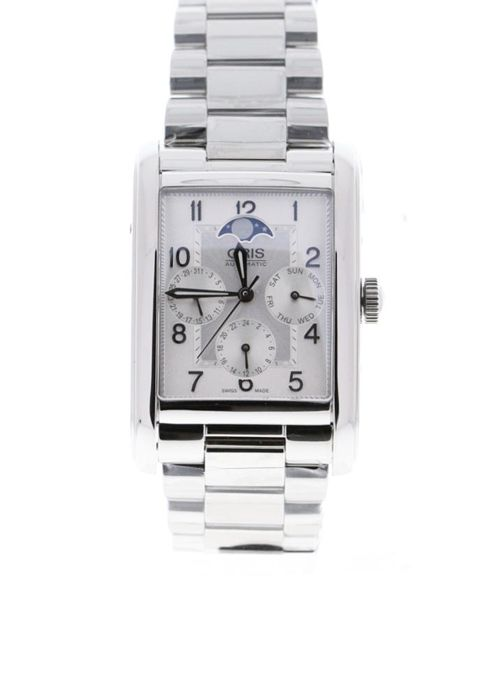 Oris - Rectangular Complication Silver Dial Date, Day, GMT, Moonphase - 01 582 7694 4061 - Unisex - 2019