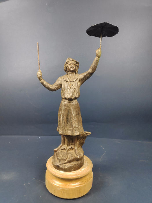 Sculpture perhaps by Mary Poppins - Antimony - Late 19th century