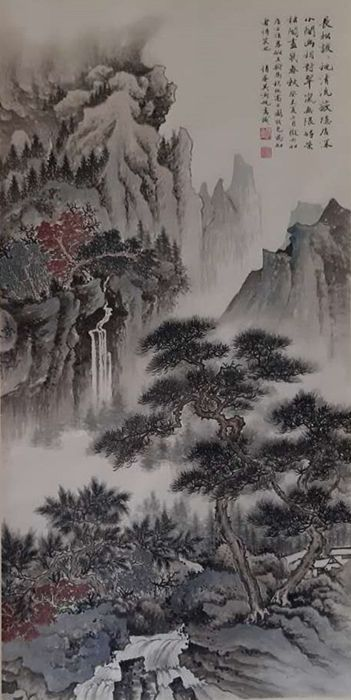 Ink painting - Chinese scroll painting on paper - in style of Wu Hufan -  China - Late 20th century - Catawiki