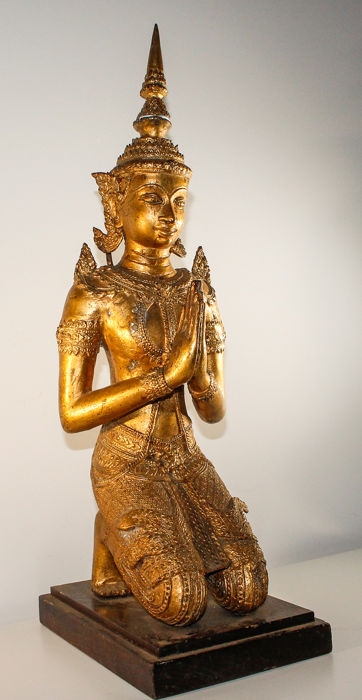 Antique Hanama Rama - Bronze cold gilt - Thailand - Indian