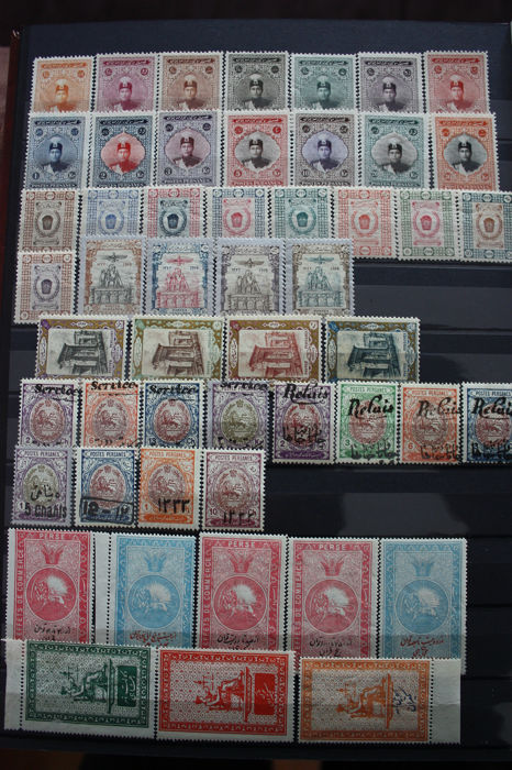 Perzië/Iran - Batch of Classical stamps