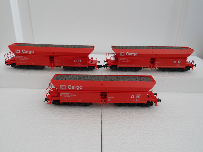 Roco H0 - 46919 - Freight carriage - 3 six-axle ore wagons - DB Cargo