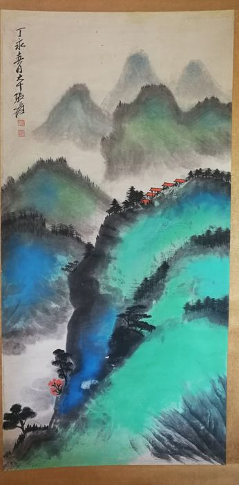 Painting - Paper - In style of zhang daqian - China - Late 20th century