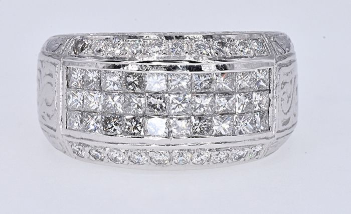 Or blanc - Bague - 2.23 ct Diamant