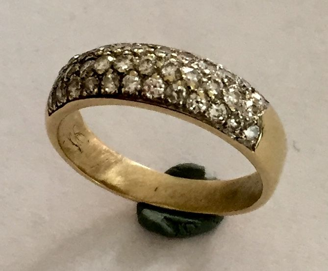 14 kt. White gold, Yellow gold - Ring - Diamonds