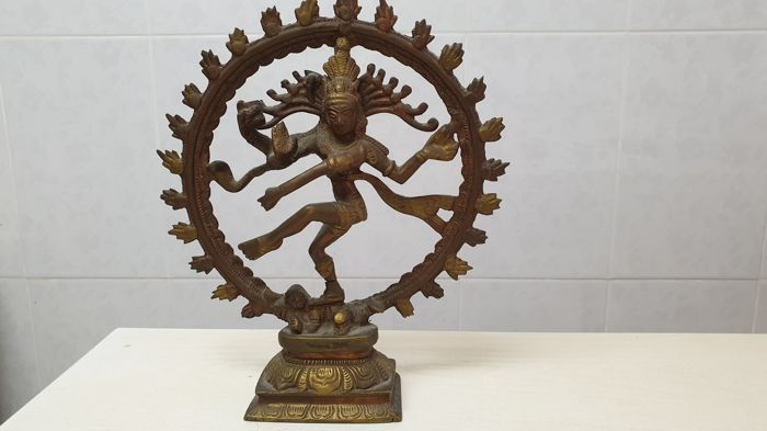 Sculpture - Bronze - Shiva - escultura de shiva - India - Second half 20th century