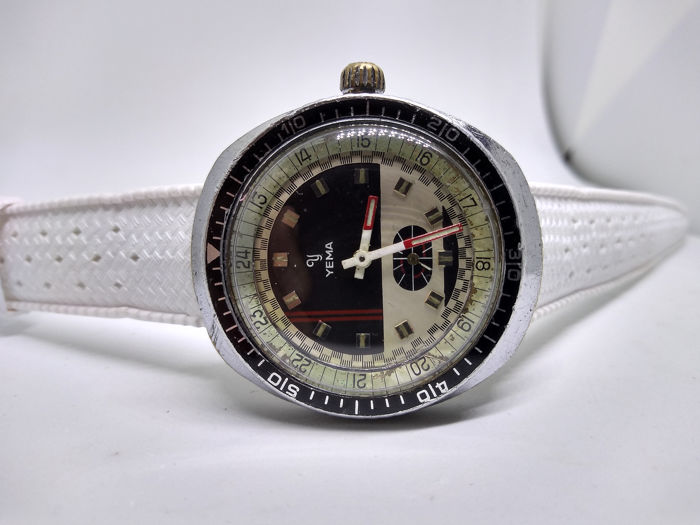 Yema - Meangraf Racing 351214 - Cal. FE 233-68 - Vintage 11419 Tropic Strap + Original BOX - Heren - 1970-1979