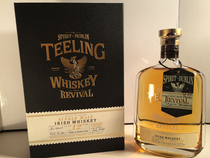 Teeling 12 years old Revival - Cognac and Brandy cask  - 70 cl