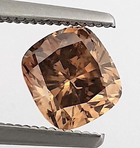 Diamante - 1.72 ct - Cojín - Natural Fancy Cognac - VS2
