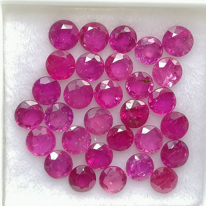 30 pcs  Rubin - 5.24 ct