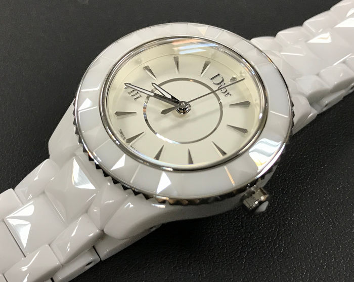 Dior - Dior VIII White Ceramic Ladies Watch - CD1231E2C001 - Mujer - 2011 - actualidad