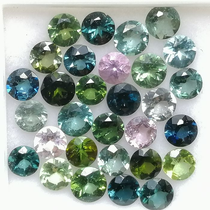 30 pcs  Tourmaline - 4.70 ct