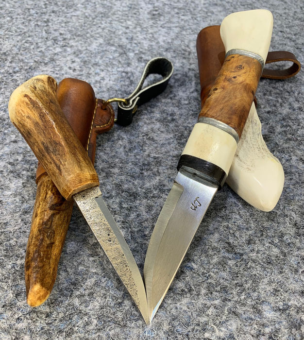 Zweden - Two Unique Swedish Knives - Norrland - Hunting - Mes