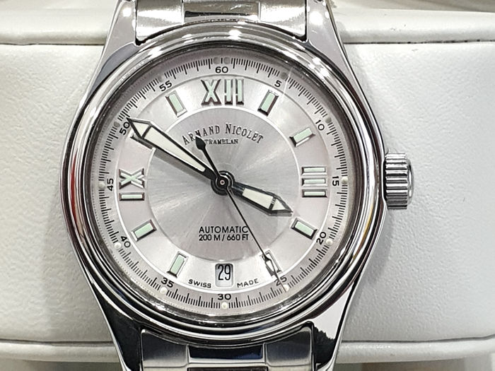 "Armand Nicolet - "" NO RESERVE PRICE "" Tramelan - Automatic Swiss Made - 9050A-AG-M9090 - Nuovo Garanzia - Men - 2011-present"