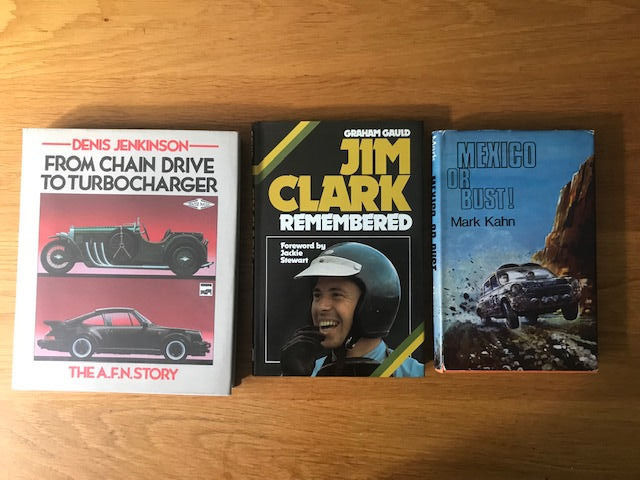Boeken - From Chain Drive to Turbocharger - Frazer-Nash Porsche Jenkinson - Jim Clark - Mexico or bust - 1970-1984