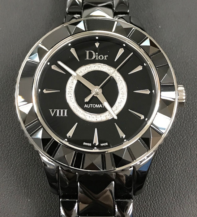 Dior - Dior VIII Black Ceramic Ladies Automatic with diamonds@ - CD1245E0C002 - Women - 2011-present