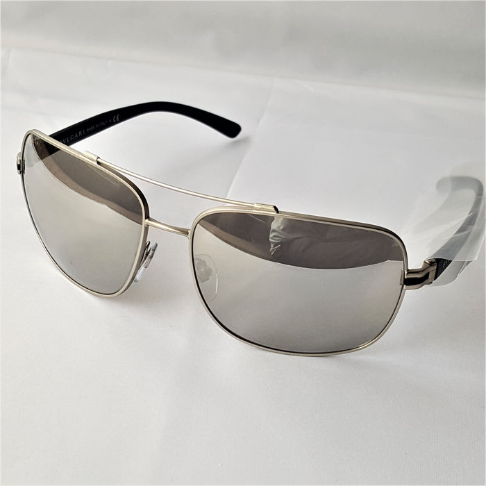 Bulgari - Aviator Rectangle Matte Silver - New - Made in Italy - 2019 Sunglasses