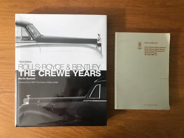 Boeken - Rolls Royce & Bentley The Crewe Years & Service Manual Mk6,R and Silver Dawn - 1197-2011