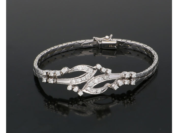 18 kt. White gold - Bracelet - 0.64 ct Diamond