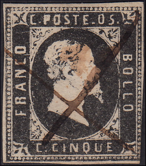 Sardinië 1851 - 1st issue 10 c. black - Sassone N. 1