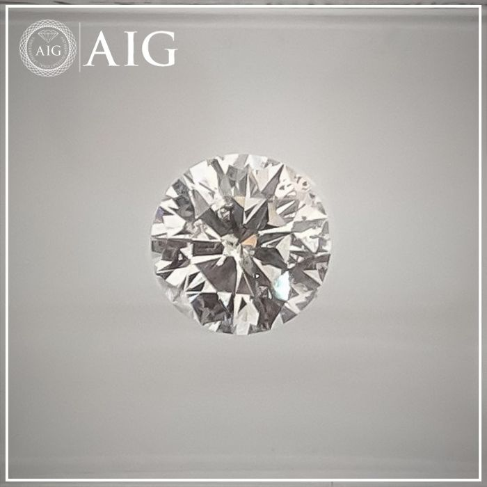 Diamond - 0.75 ct - Round - D (colourless) - SI2