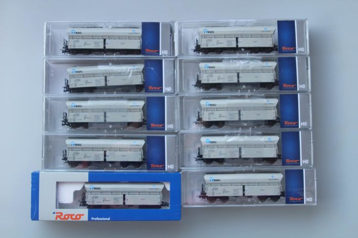 Roco H0 - 45983/41359 - Freight carriage - 10 bottom release fals - KVG