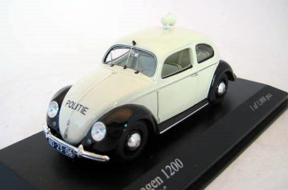 "MiniChamps - 1:43 - Volkswagen 1200 Export 1951 ""Politie Netherlands"" - Mint Boxed - Factory Sold Out"