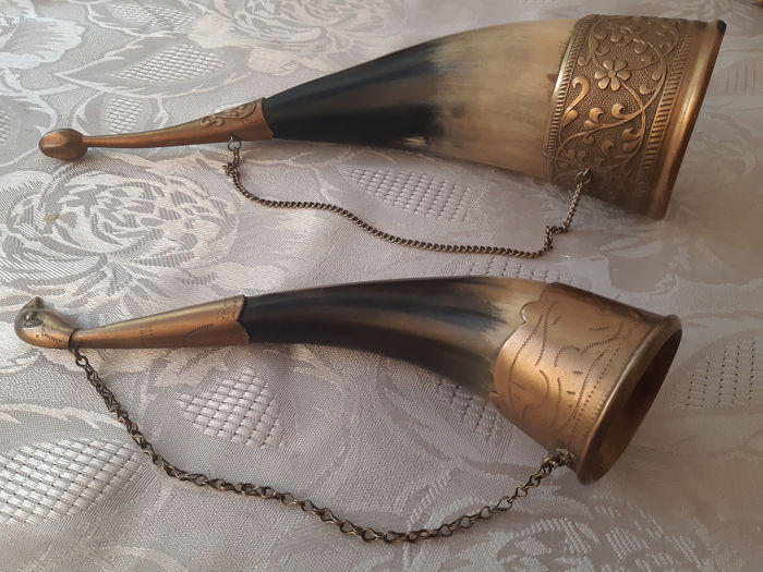 Very rare and very unique RUSSIAN kit  two horns - Torvi - Luu