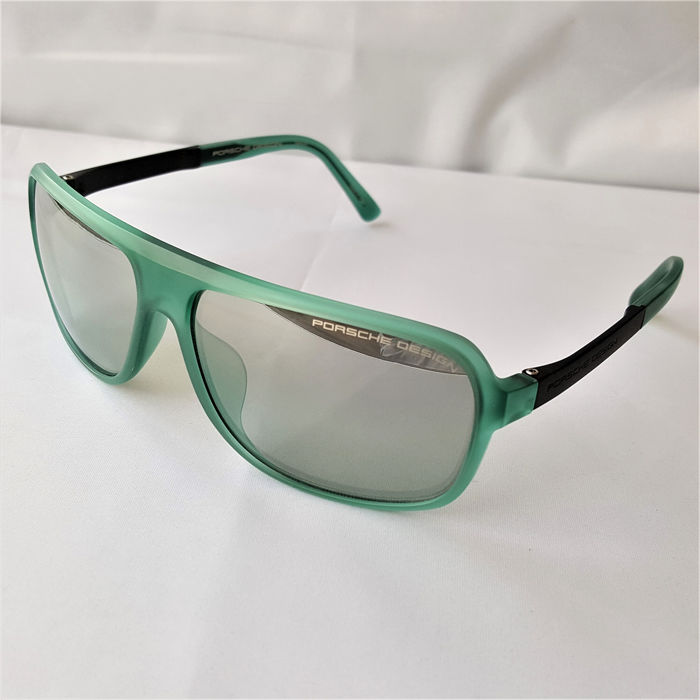 Porsche Design - Titanium Unbreakable Forest Green Pilot Rectangular Handmade - 2019 - New Sunglasses
