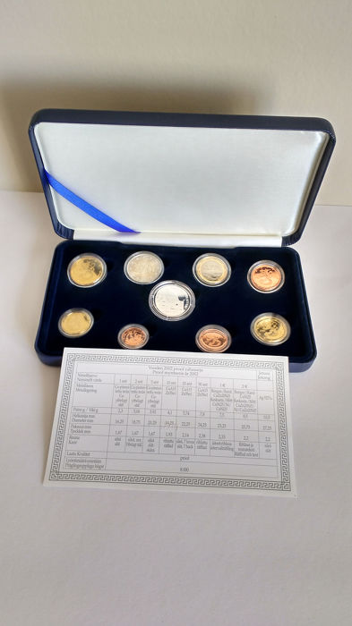 Finland - 3,88 Euro Set 2002 Proof + Medaille '100 Jahre  Finnisches Nationaltheater' (Silber)