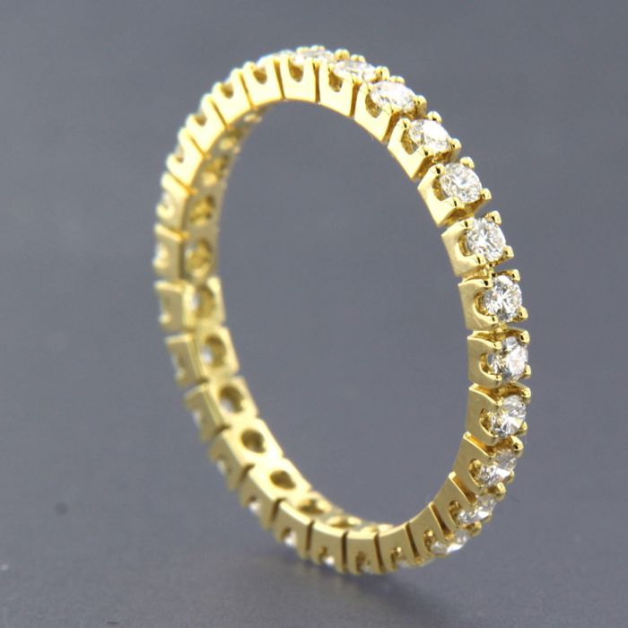 18 kt. Yellow gold - Ring - 0.65 ct Diamond