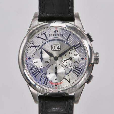 "Perrelet - First Class Big Date Chronograph - A1008 "" NO RESERVE PRICE "" - Hombre - 2000 - 2010"