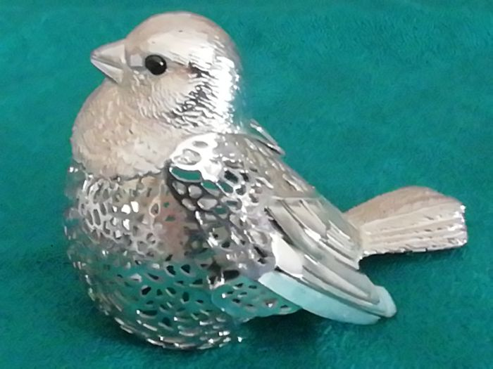 Bird miniature by Christofle, Lumière d'Argent Collection, France